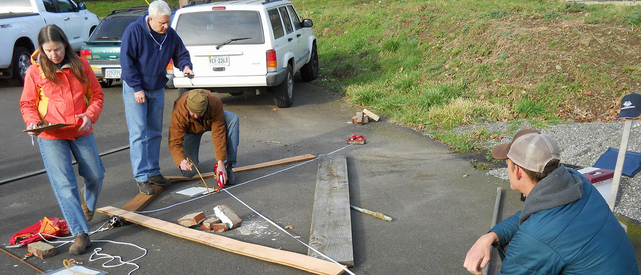 Site map training – parking lot Archaeology